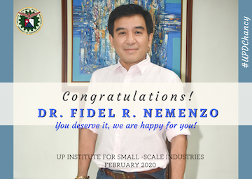 Dr. Fidel R. Nemenzo named new UP Diliman Chancellor