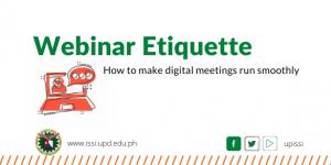 webinar etiquette