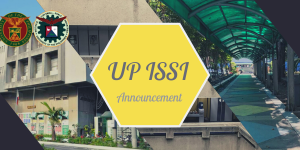 UP ISSI announcement