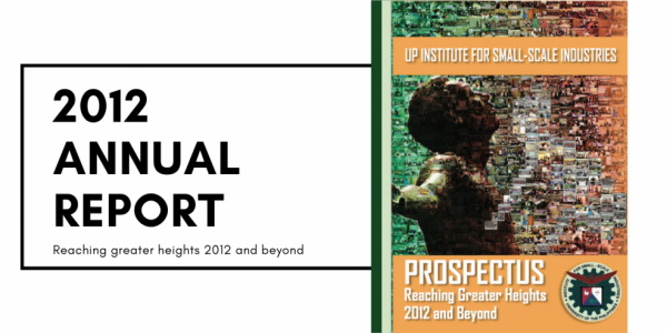 institute for small-scale industries issi 2012 annual report