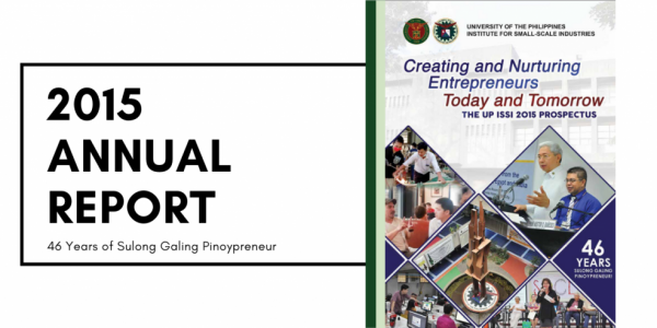institute for small-scale industries issi 2015 annual report