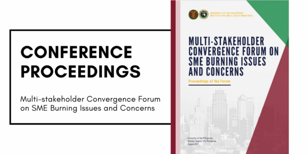 institute for small-scale industries Multi-stakeholder Convergence Forum on SME Burning Issues and Concerns