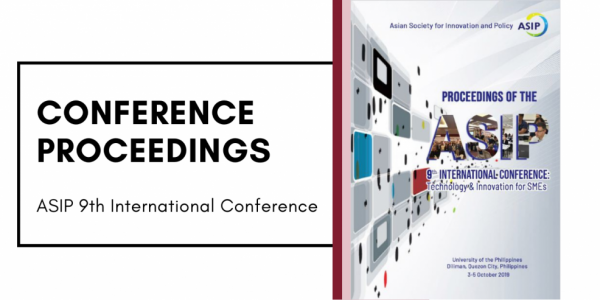 institute for small-scale industries ASIP 9th International Conference